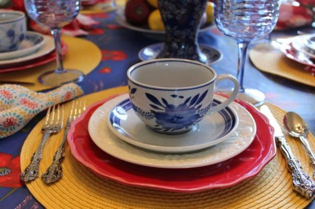 Belle Bleu Interiors Colorful Tablescape 11
