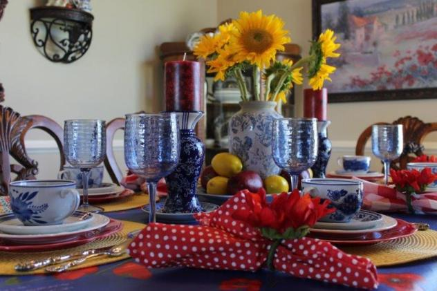 Belle Bleu Interiors Colorful Tablescape 5