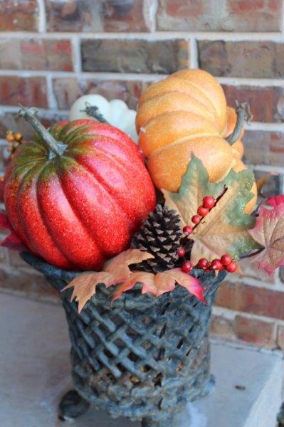 Belle Bleu Interiors Fall Front Porch 7
