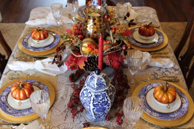 Belle Bleu Interiors Fall Tablescape 11