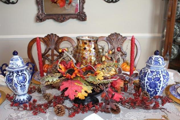 Belle Bleu Interiors Fall Tablescape 2