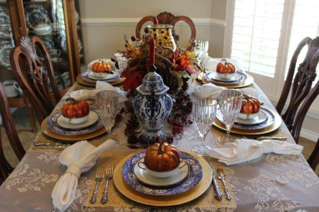 Belle Bleu Interiors Fall Tablescape