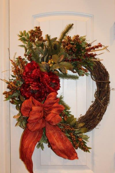 Belle Bleu Interiors Fall Wreath 29