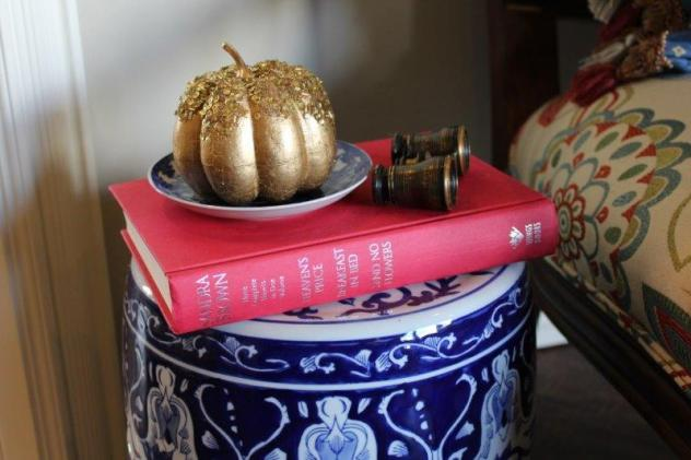 Belle Bleu Interiors French Country Living Room Fall Tour 25