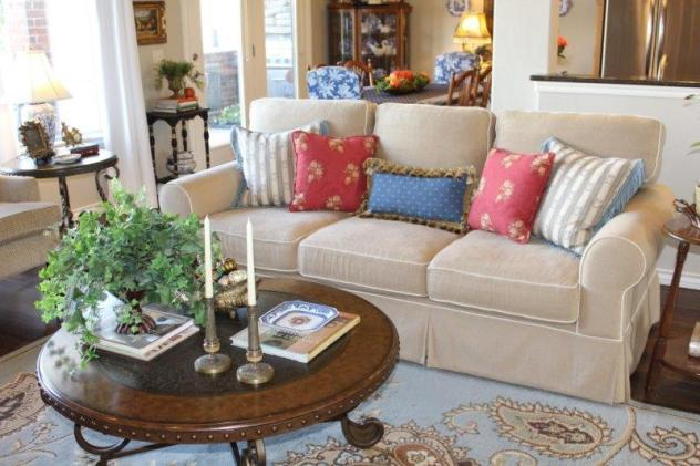Belle Bleu Interiors French Country Living Room Fall Tour 28