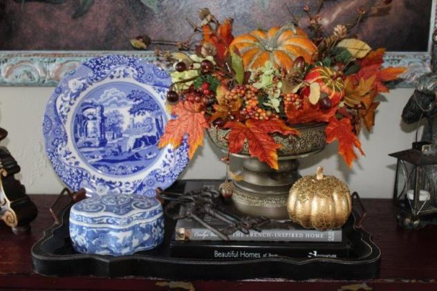 Belle Bleu Interiors French Country Living Room Fall Tour 3