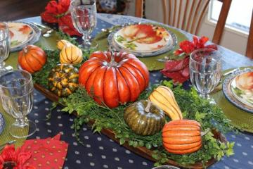 Belle Bleu Interiors Pumpkin Tablescape 10