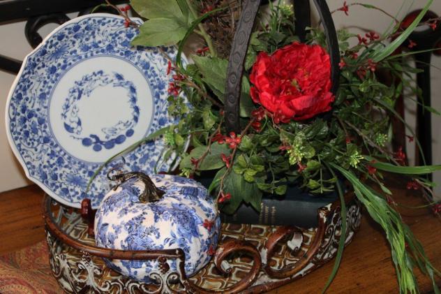 Belle Bleu Interiors Desiging a Faux Pumpkin 8