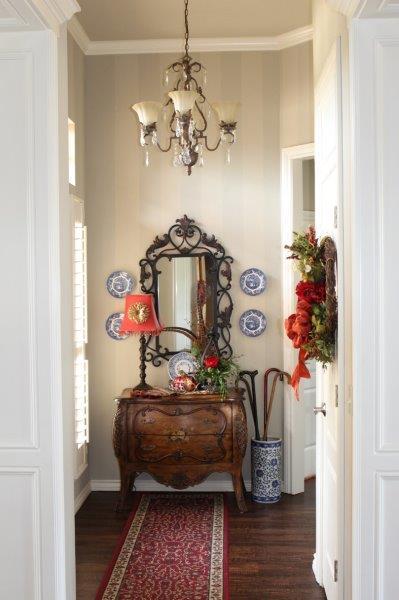 Belle Bleu Interiors Fall Entry Hall 9