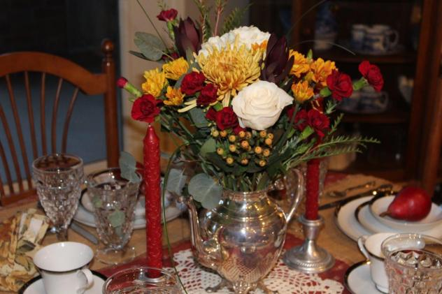 Belle Bleu Interiors Romantic Autumn Tablescape 3