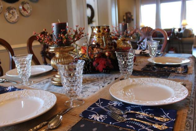 Belle Bleu Interiors Casual Autumn Dinner with Friends 2