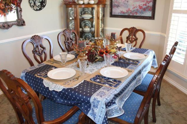 Belle Bleu Interiors Casual Autumn Dinner with Friends 9