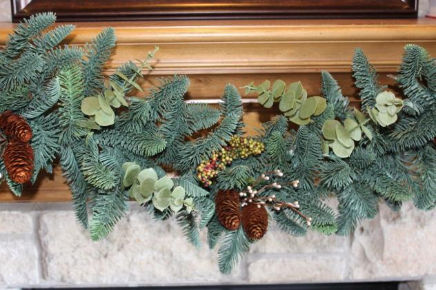 Belle Bleu Interiors French Country Christmas Mantel 3