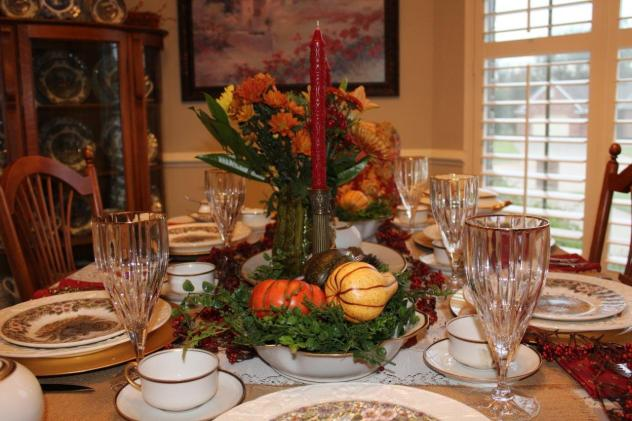 Belle Bleu Interiors Thanksgiving Table 10