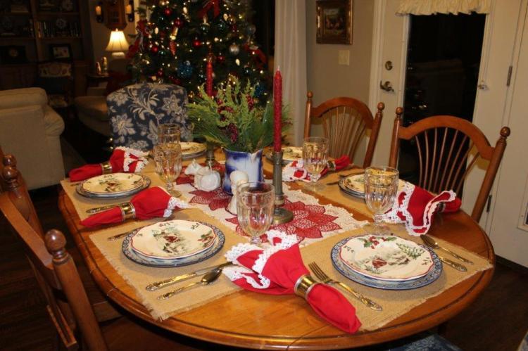 Belle Bleu Interiors Farmhouse Christmas Tablescape 1