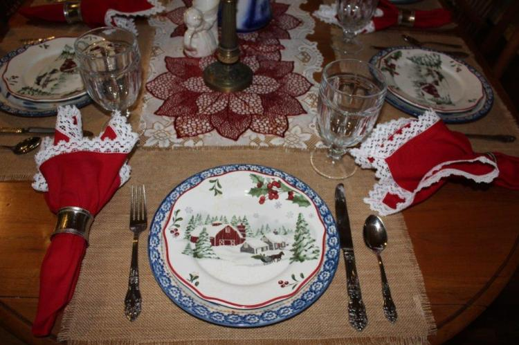 Belle Bleu Interiors Farmhouse Christmas Tablescape 11