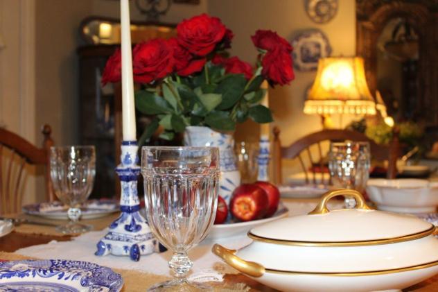 Belle Bleu Interiors Mr. Bleu's Birthday Dinner 12