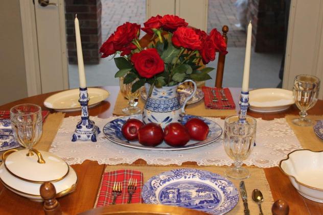 Belle Bleu Interiors Mr. Bleu's Birthday Dinner 14