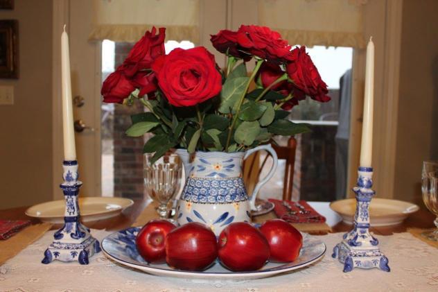 Belle Bleu Interiors Mr. Bleu's Birthday Dinner 7