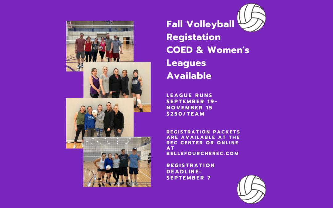 Fall 2021 Volleyball Registration