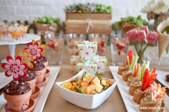 Garden Inspired Gourmet Menu For A Sweet 16 Party From Kreavie