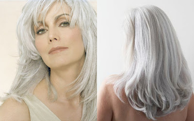 maquillage cheveux gris