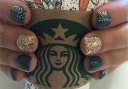 trendy nail design fall