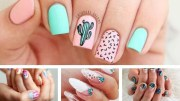 catchy summer nail design