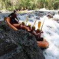 Summer rafting in the valley - French Alps