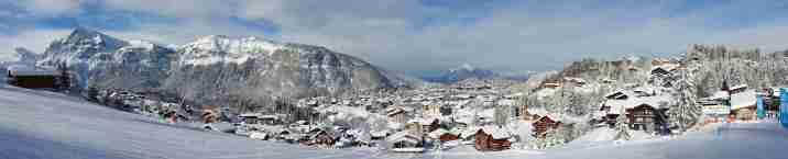 Les Carroz traditioneel dorp met chalets voor perfekte vakantie