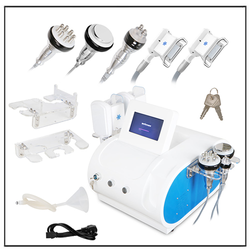 Double Handles Cooling System Cavitation RF Slimming Cellulite Removal Machine