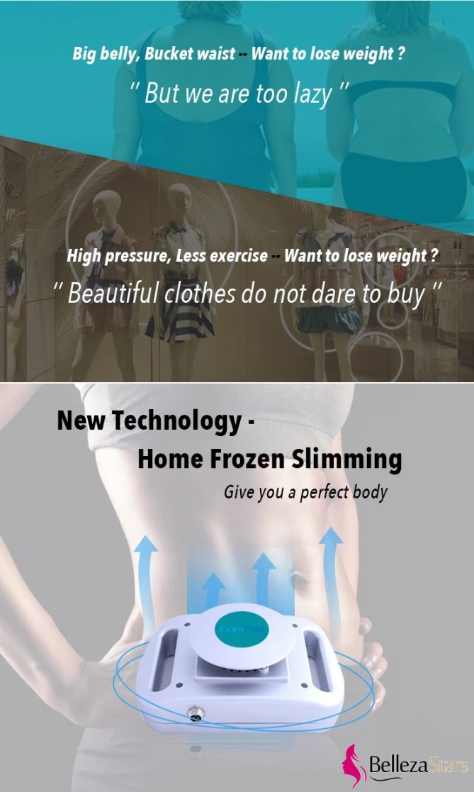 New technology home frozen slimming cryo pad machine