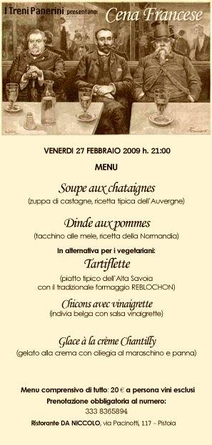 Cena francese  Pistoia PT  segnalato da Bellezze della Toscana
