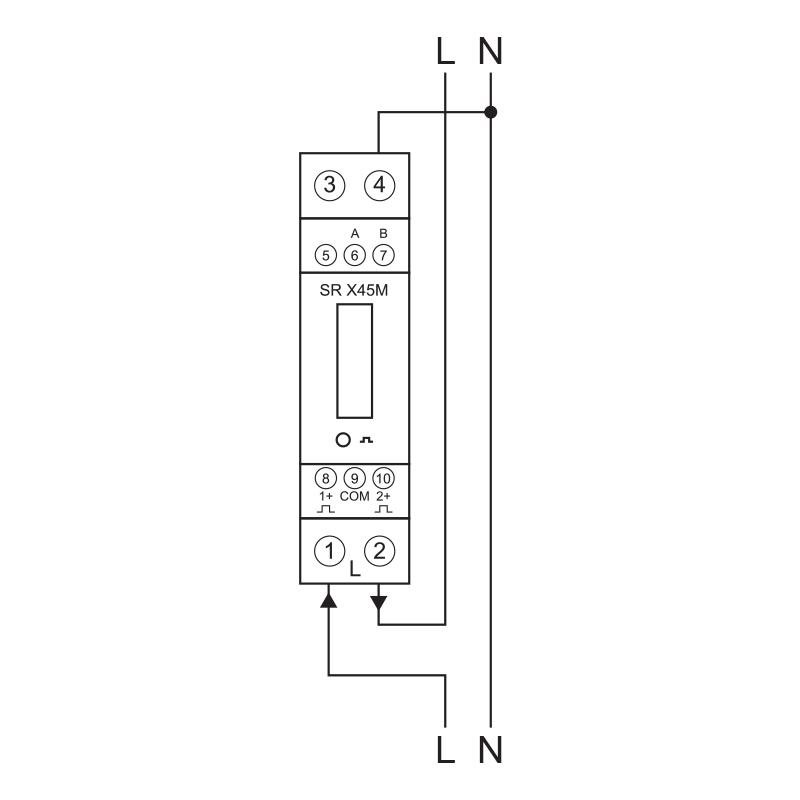 single phase kwh meter circuit diagram