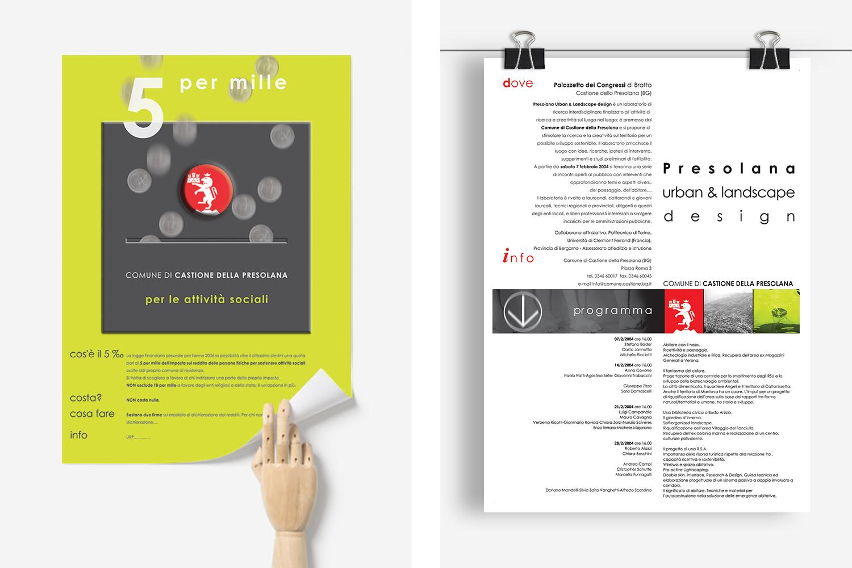 poster e flyer per Comune di Castione della Presolana: progetti di comunicazione per la promozione di iniziative pubbliche