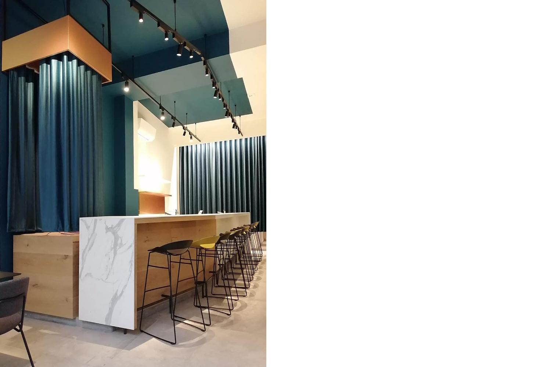 dessert bar milano: progetto di interni e design per la realizzazione di un locale di somministrazione con laboratorio di produzione