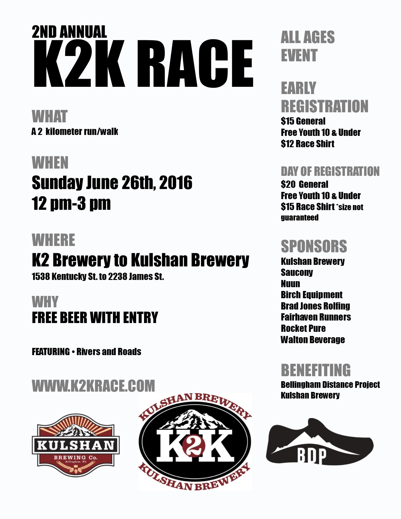 2nd Annual K2K Race Coming this Weekend!