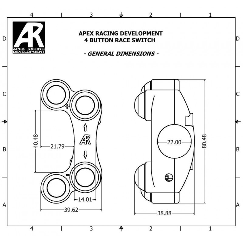Apex Racing Four Button Race Switch For Kawasaki Zx-6R