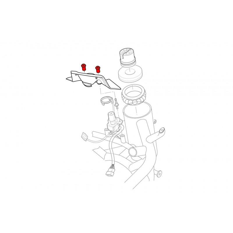CNC Racing Screws for Key Guard (pair) For M1200/821, 1098