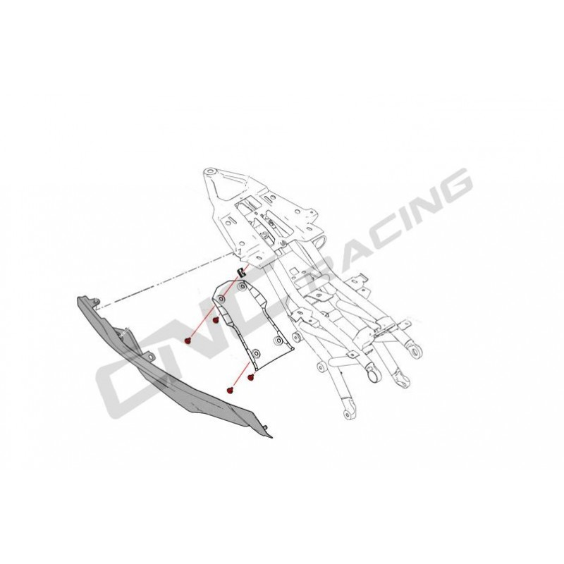 CNC Racing Screw kit for Undertail for Ducati Supersport