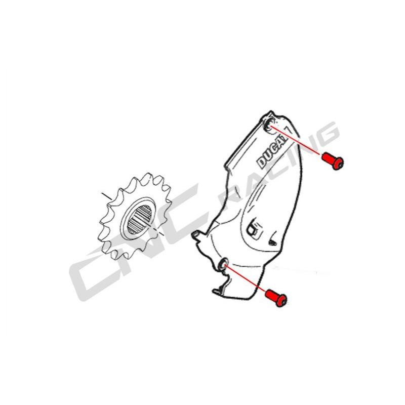 CNC Racing Titanium Bolt kit for Front Sprocket cover For