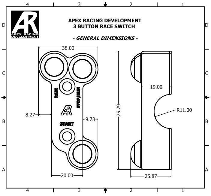 Apex Racing Three Button Engine Switch For Yamaha YZF-R6