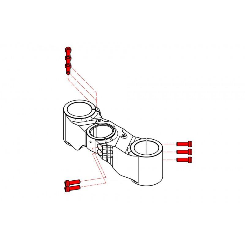 CNC Racing Titanium Bolt kit for CNC Racing Lower Triple