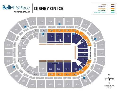 small resolution of bell mts place disney on ice seating