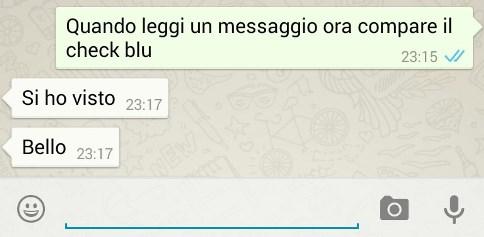 Conferma di lettura WhatsApp