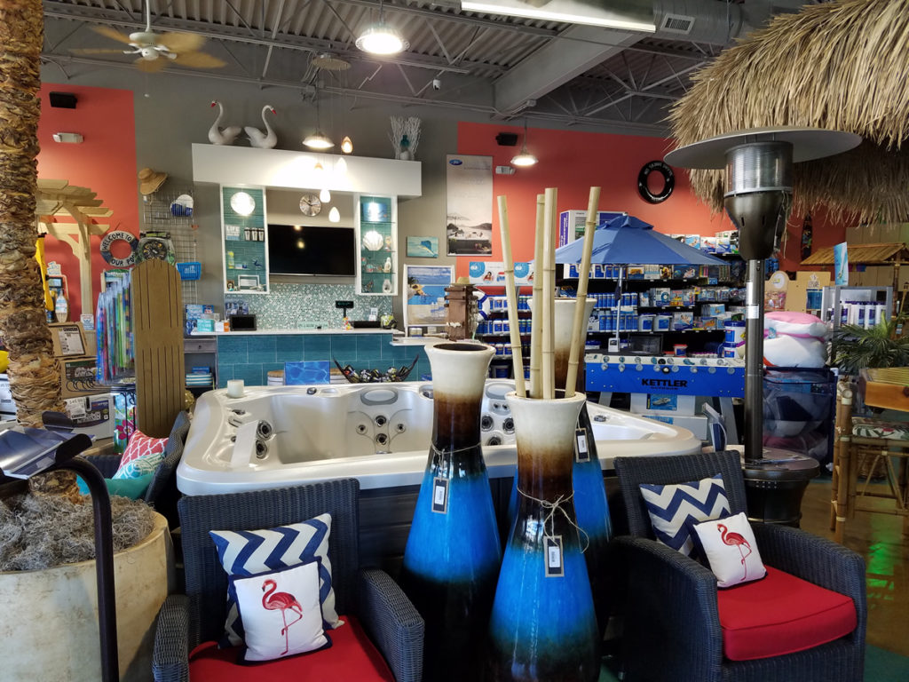 Bell Pool  Patio retail store offers hot tubs and a wide