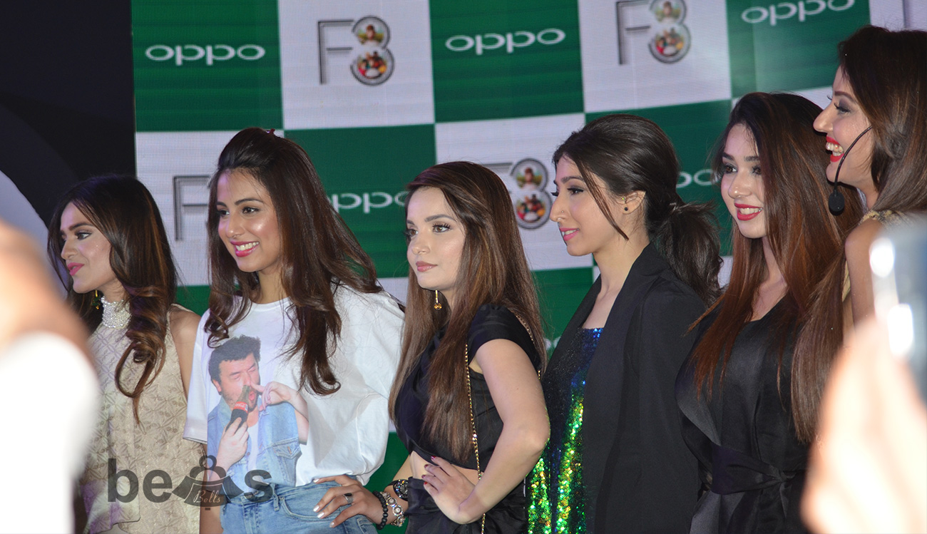 Celebrities shine out at OPPO F3 Launch in Lahore, Pakistan