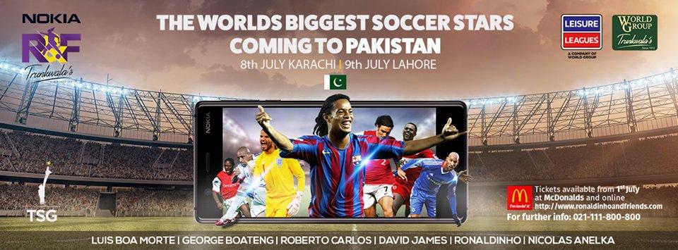 Glittering 'Nokia Ronaldinho & Friends' trophy unveiled – Leisure Leagues Pakistan