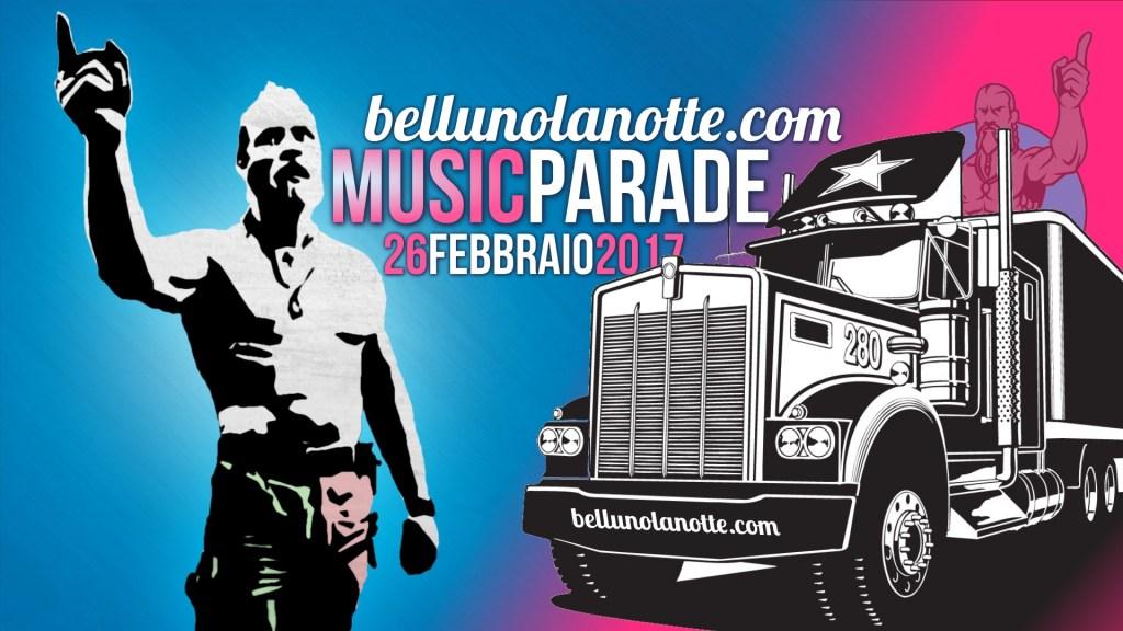 26 febbraio: la music parade di carnevale a Belluno