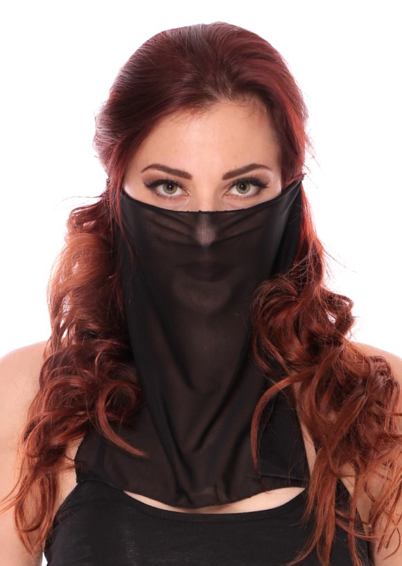 Mesh Face Veil for Belly Dancer or Harem Costume - ASSORTED